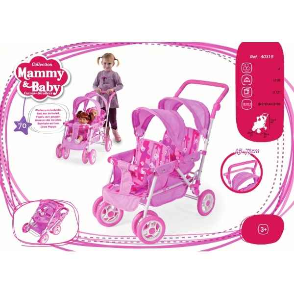 Poussette double mammy & baby Arias -40319