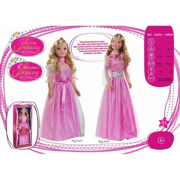 Christina princesse 105 cm rose Arias -24508