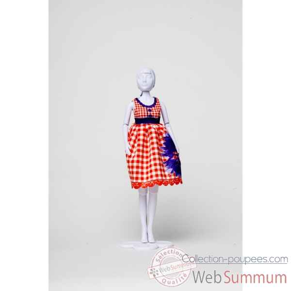 Audrey cornflower Dress Your Doll -S412-0301