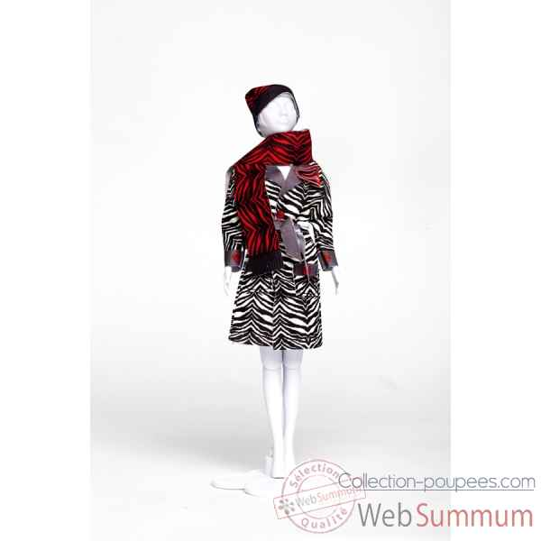 Judy zebra Dress Your Doll -S213-0606
