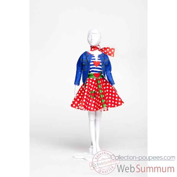 Lucy polka dots Dress Your Doll -S313-0702