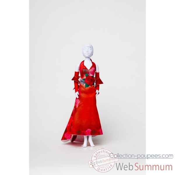 Mary red roses Dress Your Doll -S212-0801