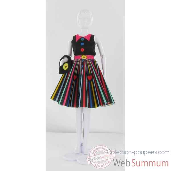 Peggy rainbow Dress Your Doll -S311-0308