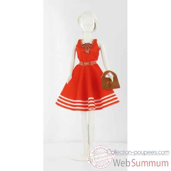 Peggy red/white Dress Your Doll -S310-0304