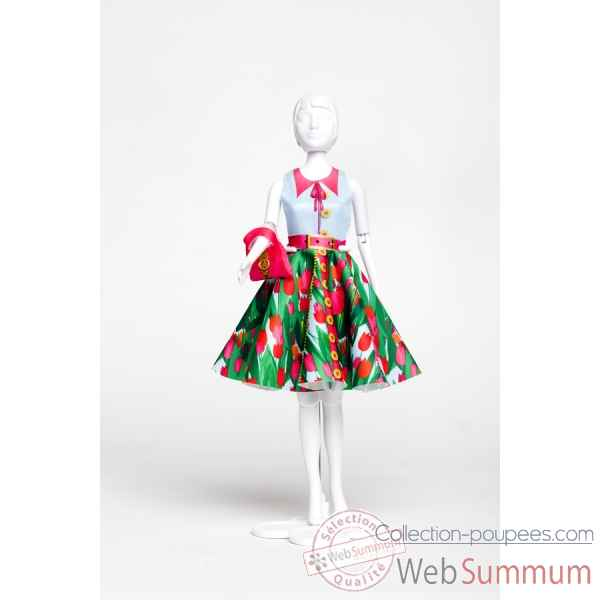 Peggy tulip Dress Your Doll -S313-0309