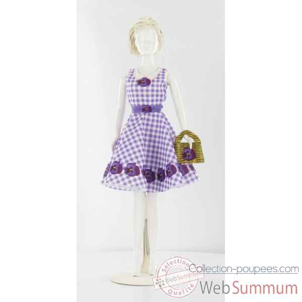 Peggy violet Dress Your Doll -S310-0306