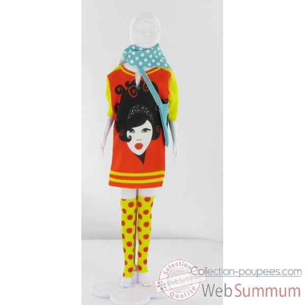 Sally girl red Dress Your Doll -S111-0803