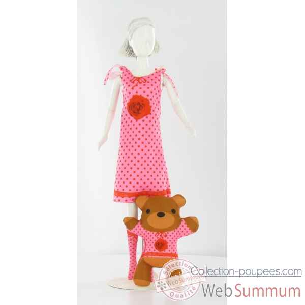 Sleepy roses Dress Your Doll -S210-0403