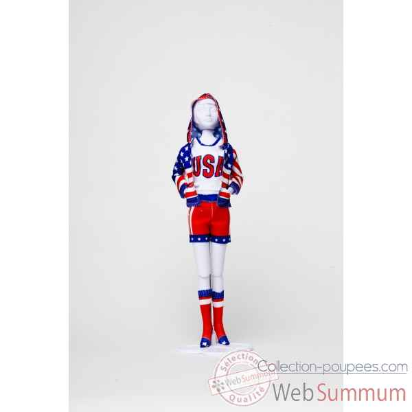 Sporty stars & stripes Dress Your Doll -S412-0204