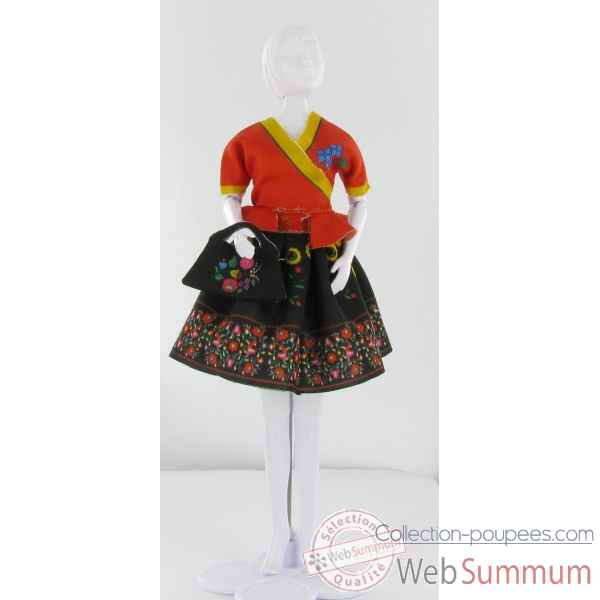 Steffi folk Dress Your Doll -S411-0202