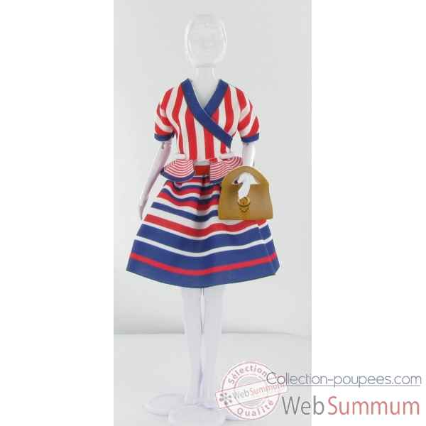 Steffi stripes Dress Your Doll -S411-0103