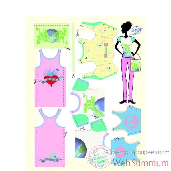 Toppy pastel Dress Your Doll -S111-0901