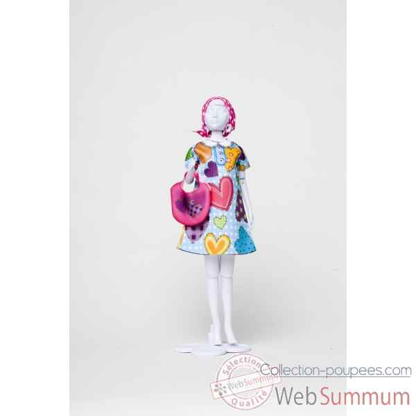 Twiggy hearts Dress Your Doll -S212-0307