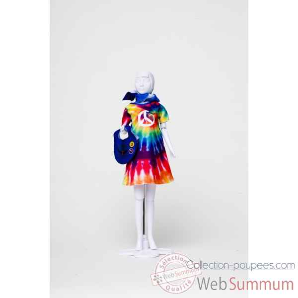 Twiggy hippy Dress Your Doll -S212-0309