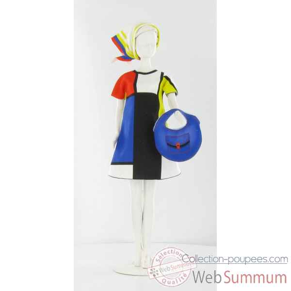 Twiggy mondriaan Dress Your Doll -S210-0305