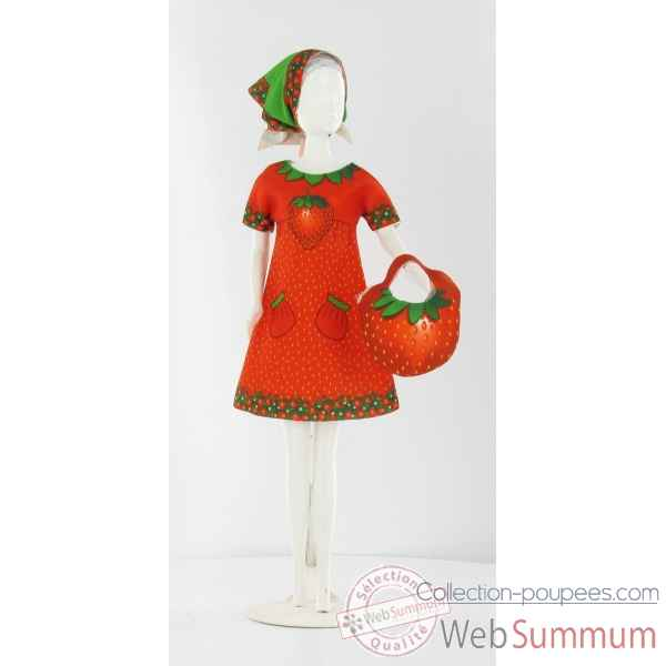 Twiggy strawberry Dress Your Doll -S210-0306