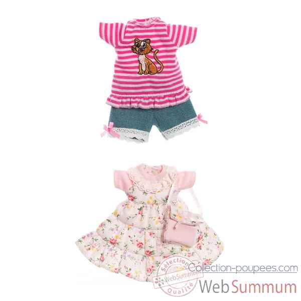 Tenue poupee 21 cm set 2 Kidz n Cats -Y10026
