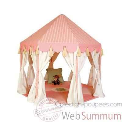 pavillon tissu rose enfant de win green dans maison en. Black Bedroom Furniture Sets. Home Design Ideas