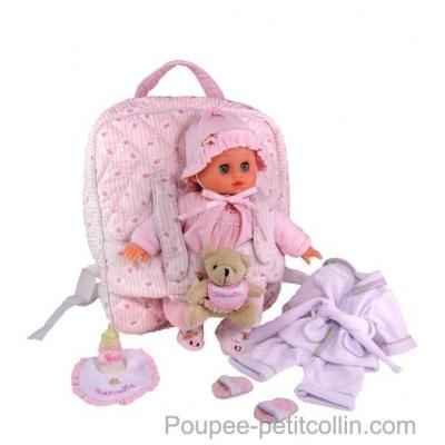 Poupon Petit calin 28cm souple urban kid Petitcollin 622826