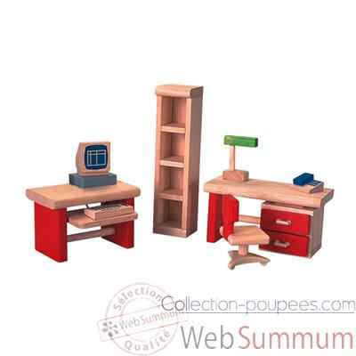 bureau en bois plan toys 7305 dans meubles maison de poup es sur collection poup es. Black Bedroom Furniture Sets. Home Design Ideas
