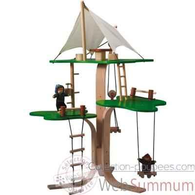 Maisons de poup es en bois dans poup es en bois plan toys for Arbre maison jouet
