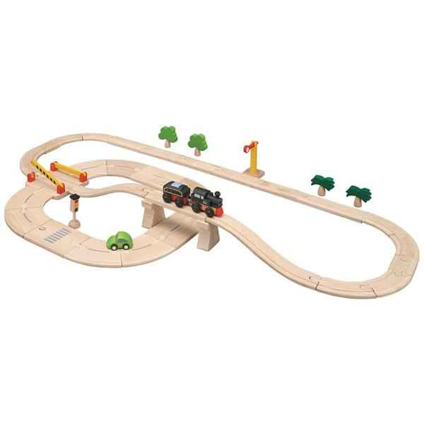 Circuit Routes et Rails 42 Pcs PlanToys -6096