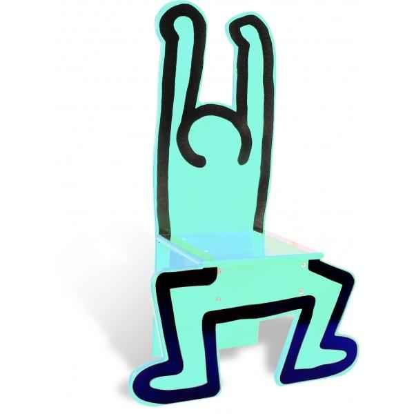 Chaise bleu turquoise keith haring - Jouet Vilac 9293
