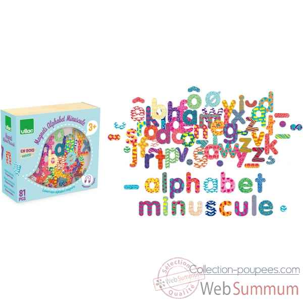 Magnets alphabet minuscule 81 pcs vilac -6703