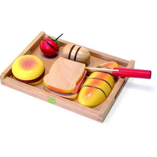 plateau repas d couper jouet vilac 6159 dans dinette sur collection poup es. Black Bedroom Furniture Sets. Home Design Ideas
